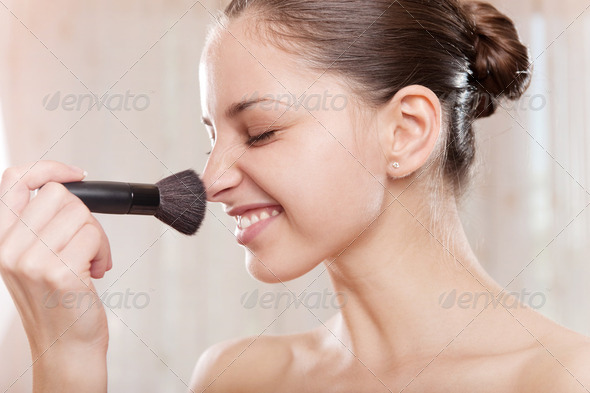 Make-up applying - Stock Photo - Images