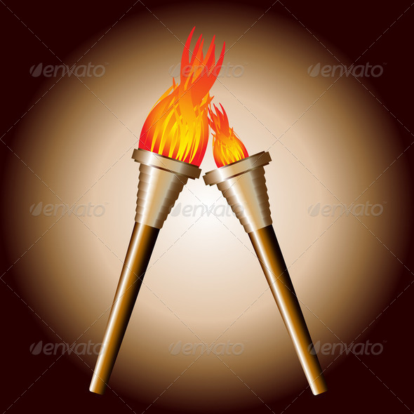 Torch of sport game of the world - Stock Photo - Images