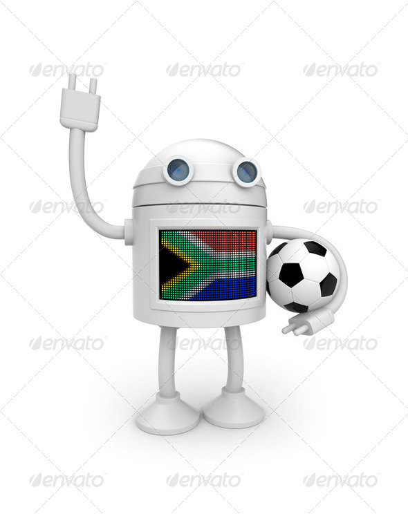 Soccer fan - Stock Photo - Images
