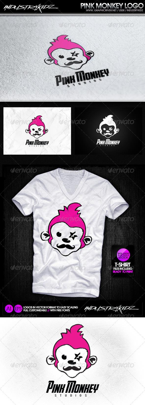 GraphicRiver Pink Monkey Studios Logo 3353522