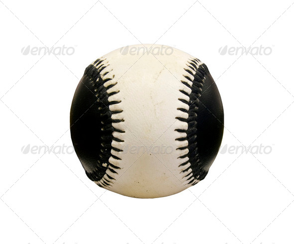 black and white baseball - Stock Photo - Images