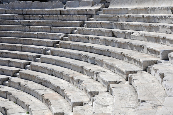 Closeup Ancient Theater in Plovdiv - Stock Photo - Images
