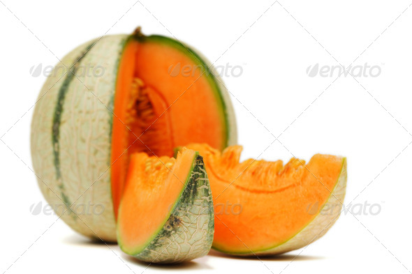 cantaloupe melone - Stock Photo - Images