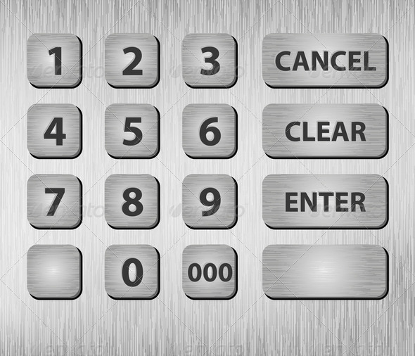 ATM buttons - Stock Photo - Images