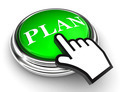 plan green button and pointer hand - PhotoDune Item for Sale
