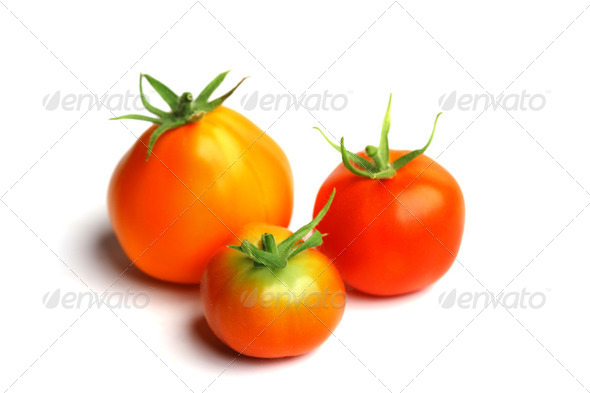 red tomato pile on white - Stock Photo - Images