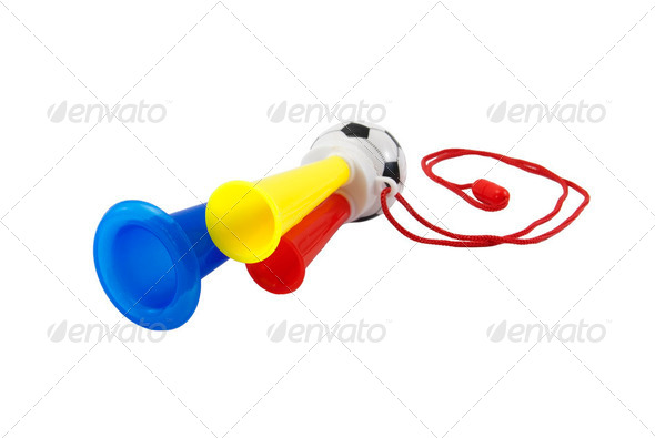 Soccer Fan Trumpet - Stock Photo - Images