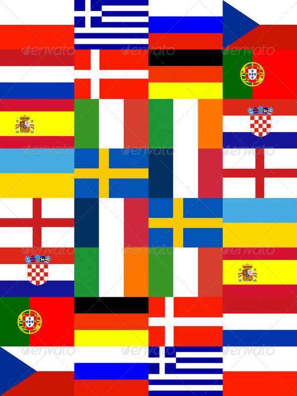 16 Europe National flag - Stock Photo - Images