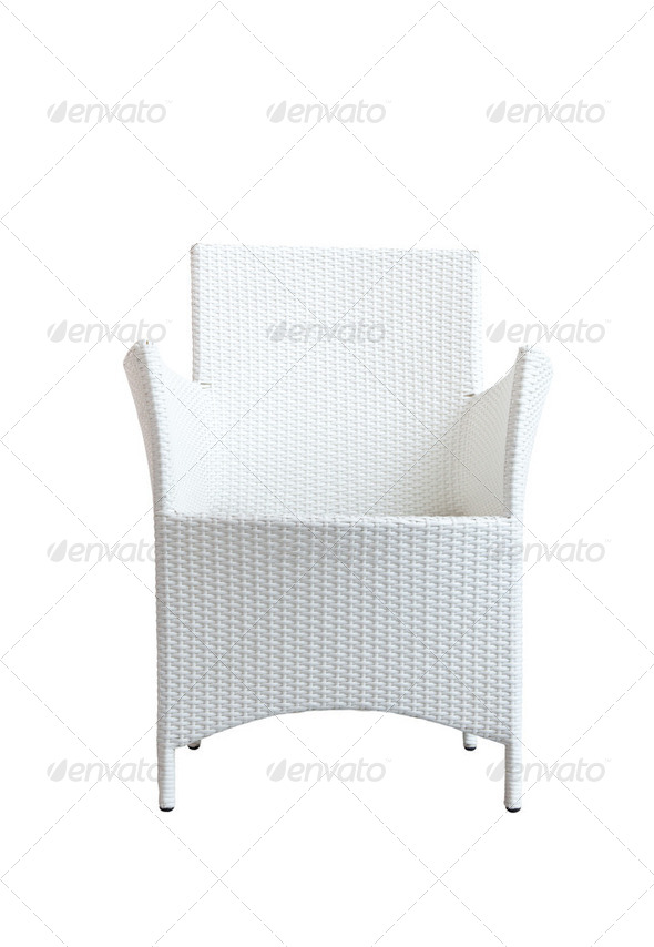rattan chair with clipping path - Stock Photo - Images