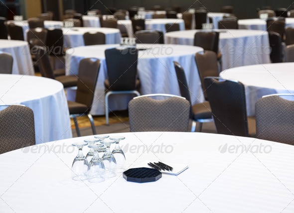 Empty Conference room with tables - Stock Photo - Images