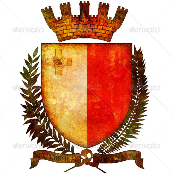 national emblem of malta - Stock Photo - Images