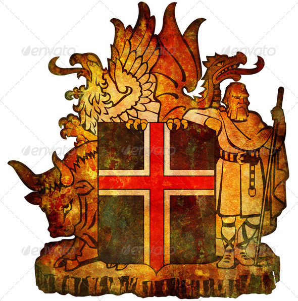 national emblem of iceland - Stock Photo - Images