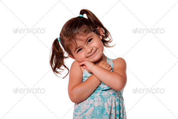 Cute toddler girl - Stock Photo - Images