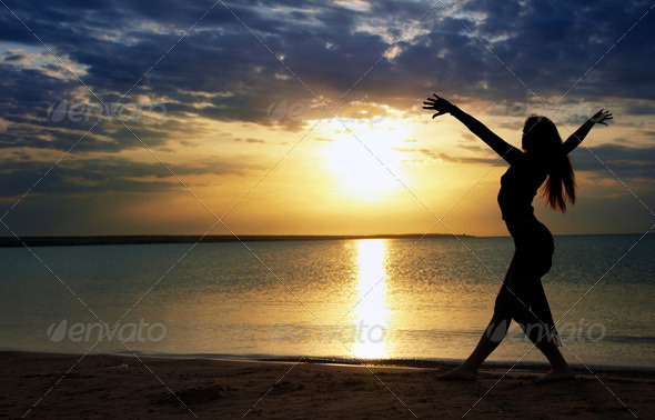 Dance at the sea - Stock Photo - Images