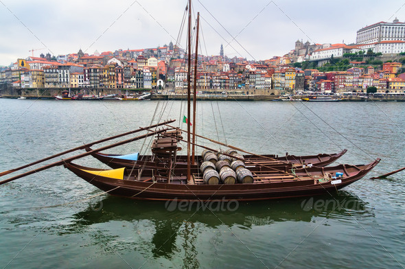 Panorama of Duoro River, Porto - Stock Photo - Images