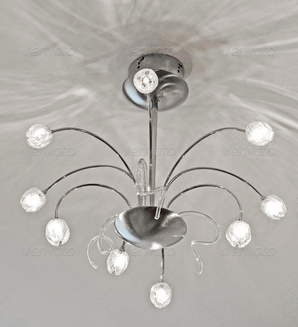 White chandelier  - Stock Photo - Images