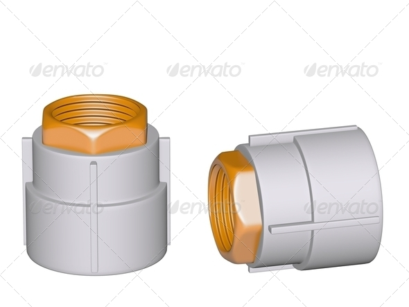 Fitting - PVC connection coupler - Stock Photo - Images