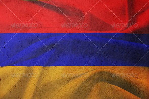 flag of Armenia  - Stock Photo - Images