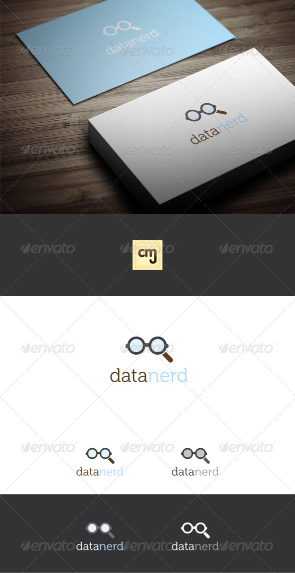 Data Nerd Logo Template - Humans Logo Templates