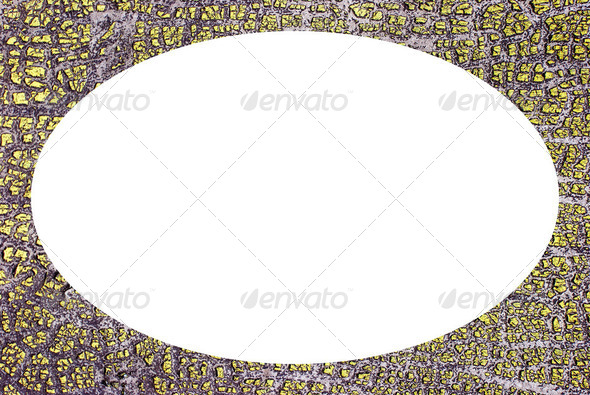 Photo frame white oval. Residue old paint backdrop - Stock Photo - Images