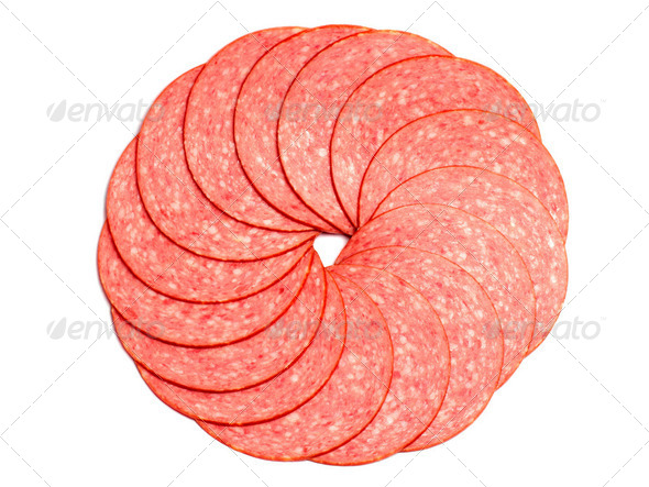 Sausage slices - Stock Photo - Images