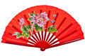 Red oriental chinese fan isolated on white background - PhotoDune Item for Sale