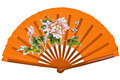 Orange oriental chinese fan isolated on white background - PhotoDune Item for Sale