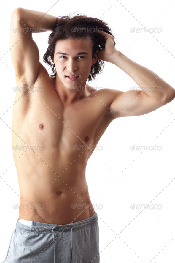 Shirtless man - Stock Photo - Images