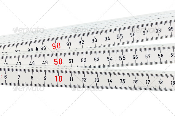 white ruler - Stock Photo - Images