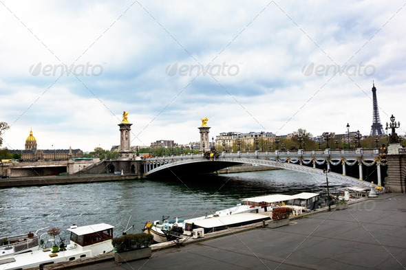 paris, france. pont alexandre iii - Stock Photo - Images