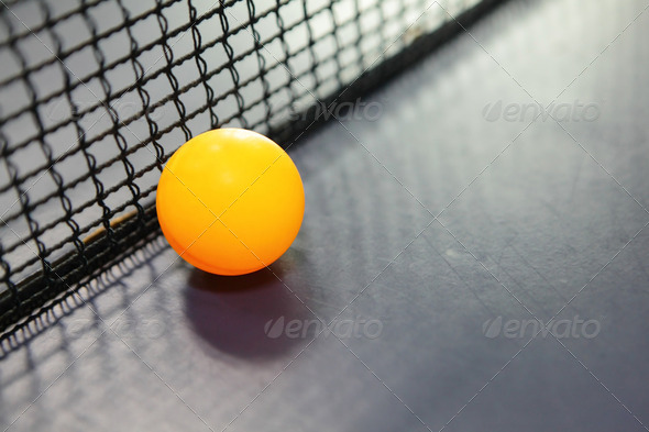 Orange table tennis ball - Stock Photo - Images