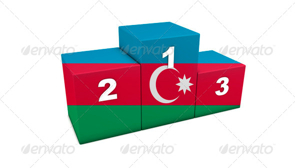 Azerbaijani Podium - Stock Photo - Images