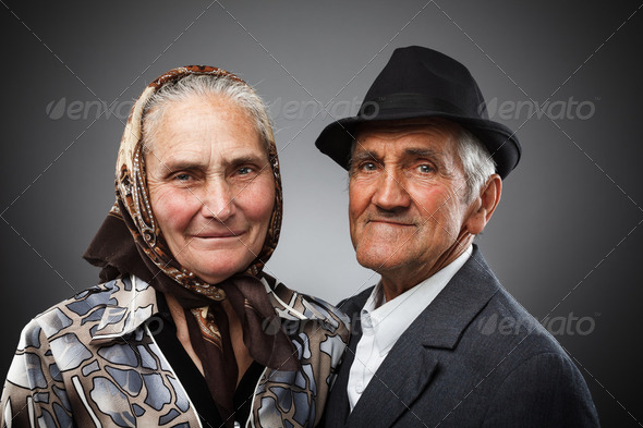 Elderly couple - Stock Photo - Images