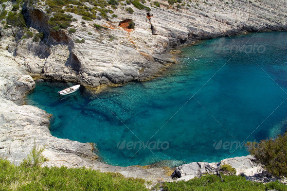 Small Mediterranean Bay - Stock Photo - Images