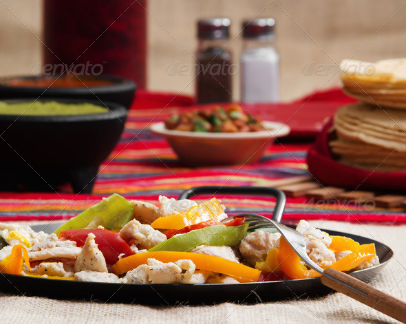 Chicken Fajitas - Stock Photo - Images