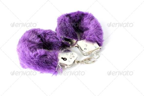 Fuzzy HandcCuffs - Stock Photo - Images