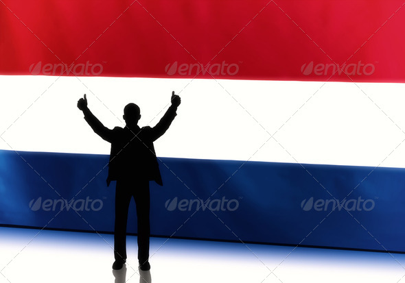 Dutch Politician with Thumbs Up - Stock Photo - Images