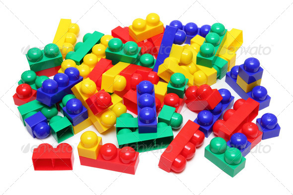 meccano toy blocks - Stock Photo - Images