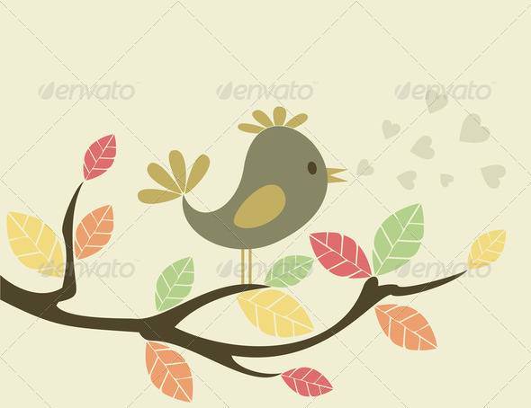 Bird on a tree3 - Stock Photo - Images
