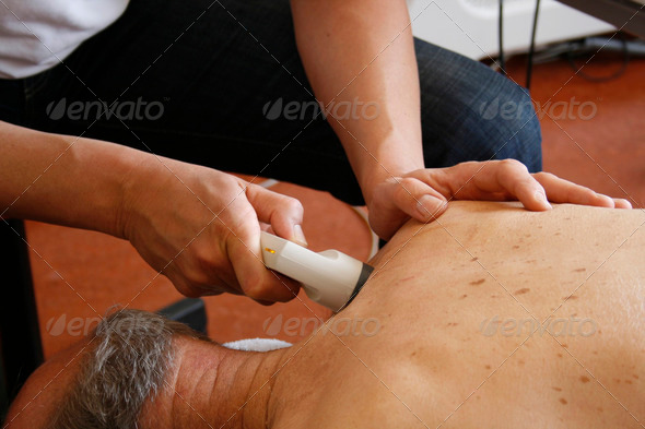 Physiotherapy with ultrasound - Stock Photo - Images
