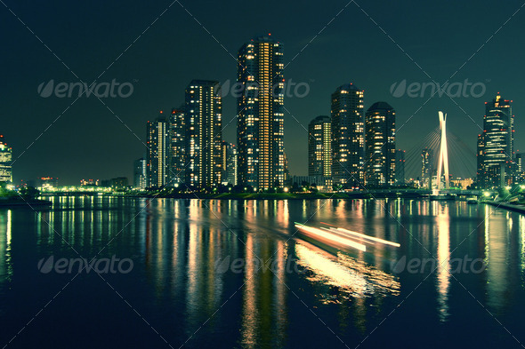 city at the sea - Stock Photo - Images