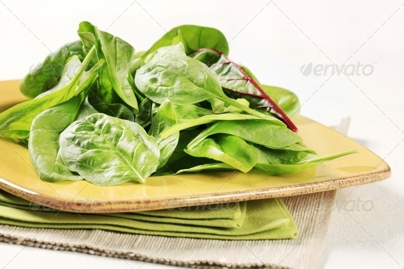Swiss chard leaves - Stock Photo - Images