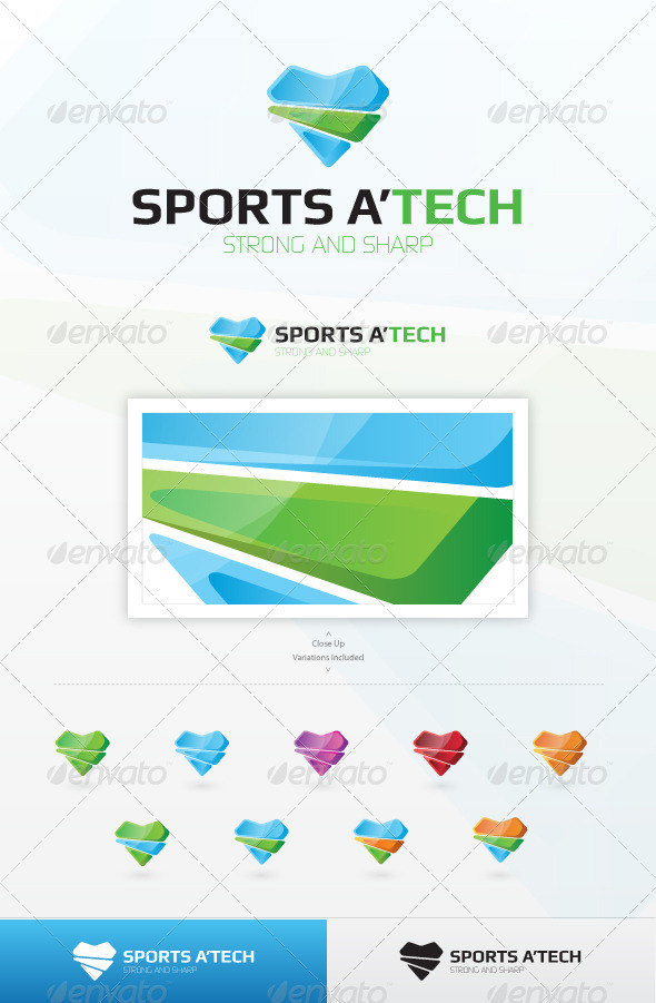 Sports A&#x27;Tech Logo Template - Symbols Logo Templates