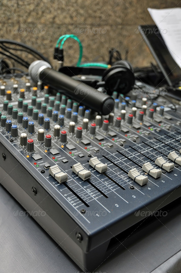 Sound mixer - Stock Photo - Images