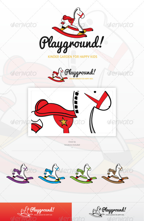 Playground Logo Template - Animals Logo Templates