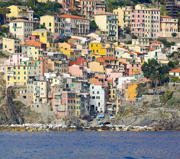 Riomaggiore houses - Stock Photo - Images