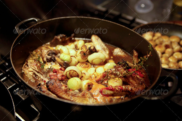 Coq au vin - Stock Photo - Images