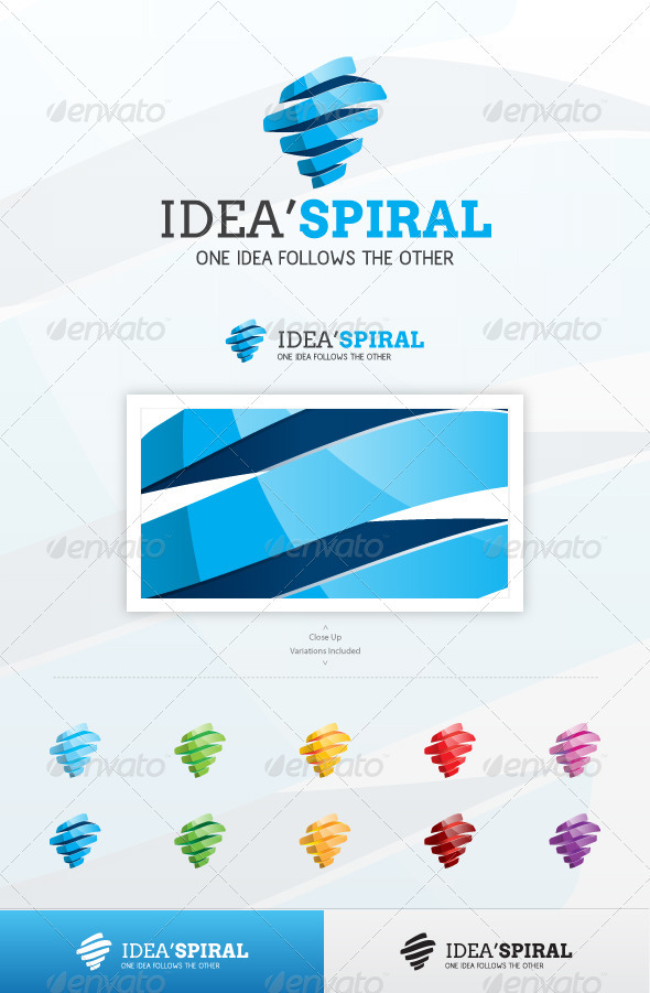 Idea Spiral - Abstract Logo Templates