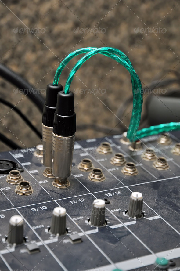 audio jack - Stock Photo - Images