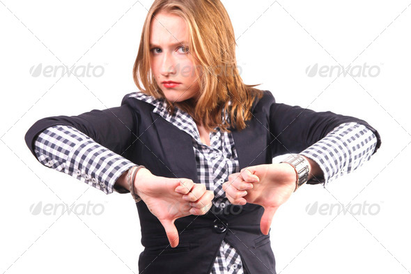 Thumbs down - Stock Photo - Images